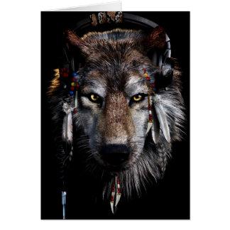 Indischer Wolf - grauer Wolf Karte
