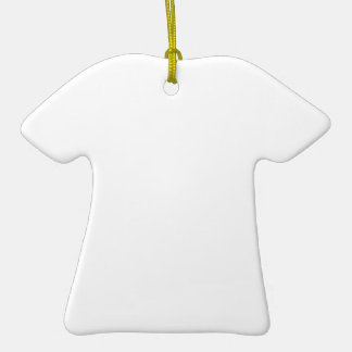 Individueller Anhänger in T-Shirt-Form Keramik T-Shirt-Ornament