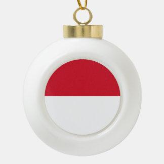 Indonesien-Flagge Keramik Kugel-Ornament