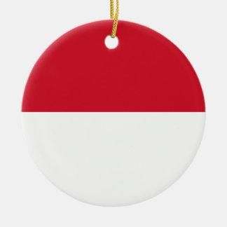 Indonesien-Flagge Rundes Keramik Ornament