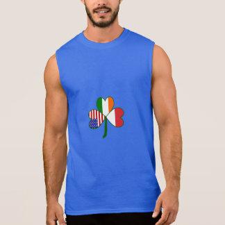 Indonesisches Flaggen-Kleeblatt Ärmelloses Shirt