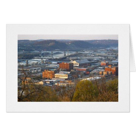 Industrielles Pittsburgh Karte