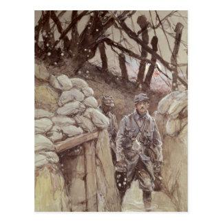 Infanteristen in einem Graben, Notre-Dame de Postkarte