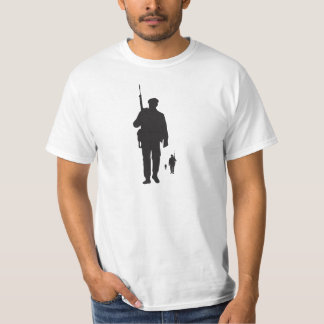 Infantry on soldier march whit t-shirt