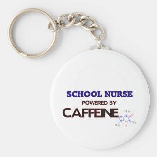 Infirmière d école actionnée par la caféine porte-clé