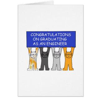 Ingenieur-graduierte Glückwünsche Karte