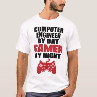 Ingénieur informaticien par le gamer de jour par t-shirt