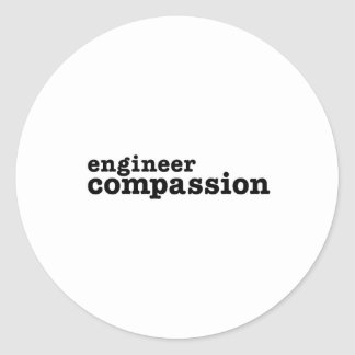 Ingenieur-Mitleid Runder Aufkleber