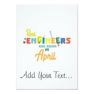 Ingenieure sind geborene im April Zjz85 Karte