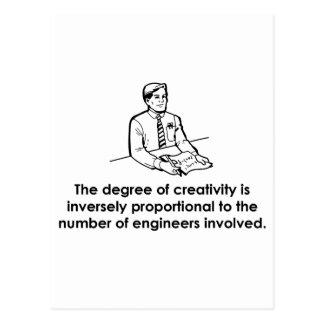 Ingenieure u. Kreativität Postkarte