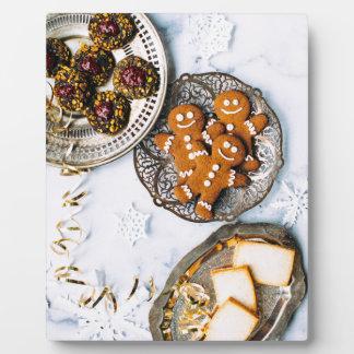 Ingwer-Brot-Männer und WeihnachtsLeckereien Fotoplatte