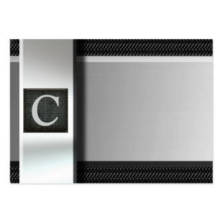 Initiale auf Metallkohlenstoff-Faser-Visitenkarten Jumbo-Visitenkarten