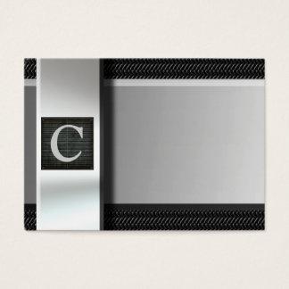 Initiale auf Metallkohlenstoff-Faser-Visitenkarten Visitenkarte
