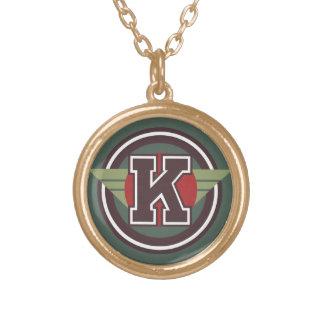 "Initiale des Deko-Buchstabe-""K"" Vergoldete Kette"