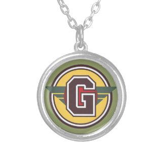 """Initiale des dekorativen Buchstabe-""""G"""" Versilberte Kette"""