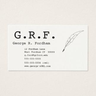 Initialen und Spulen-Punkt-Stift Visitenkarten