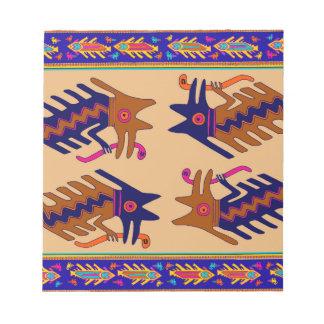 Inka-Stammes- Schlange Notizblock