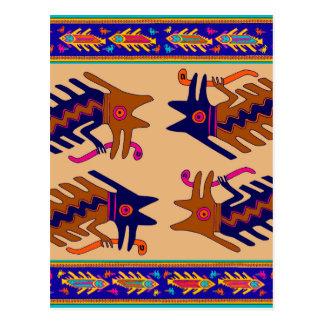 Inka-Stammes- Schlange Postkarte