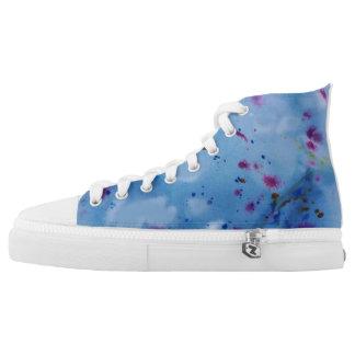 Inky Blau Hoch-geschnittene Sneaker