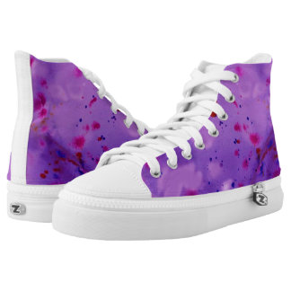 Inky Rosa Hoch-geschnittene Sneaker