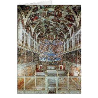 Innenansicht der Sistine Kapelle Karte