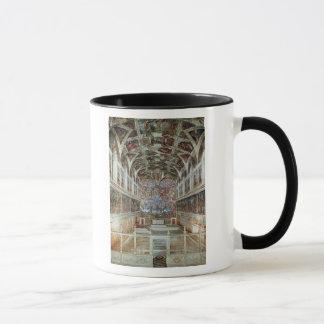 Innenansicht der Sistine Kapelle Tasse