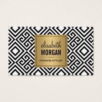 Innenarchitekt - Luxusgoldschwarzes geometrisch Visitenkarten