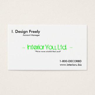 Innenarchitektur-Anzeige-Karte Visitenkarten