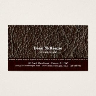 Innenarchitektur des Brown-Lederblickes Visitenkarte