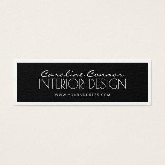 Innenarchitektur-schwarze u. weiße angrenzende Mini-Visitenkarten