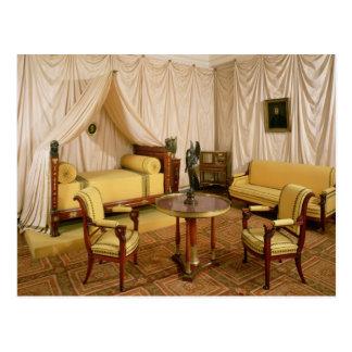 Innenraum des Schlafzimmers von Napoleon I 1800-03 Postkarte