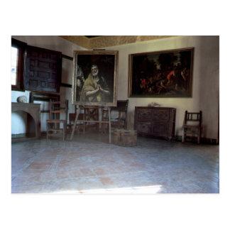 Innenraum von El Grecos Studio Postkarte