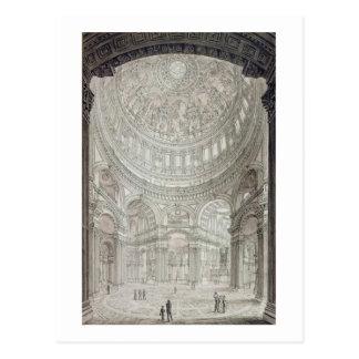 Innenraum von St Paul Kathedrale, 1817 Postkarte