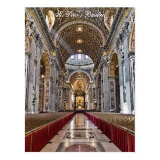 Innenraum von St Peter Basilika Postkarte