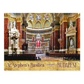 Innenraum von St Stephen Basilika in Budapest Postkarte