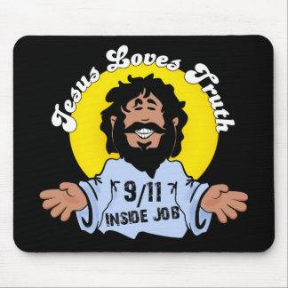 Innerer Job der Jesus-Liebe-Wahrheits-9-11 lustig Mauspads