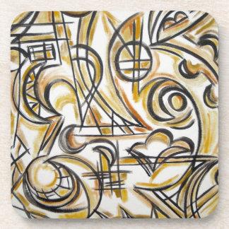 Innerhalb der Labyrinth-Abstrakten Kunst Getränke Untersetzer