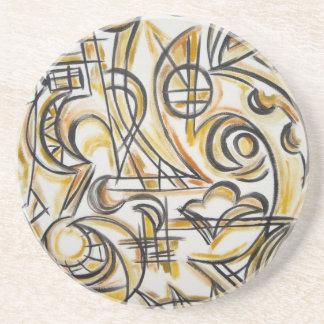 Innerhalb der Labyrinth-Abstrakten Kunst Getränkeuntersetzer