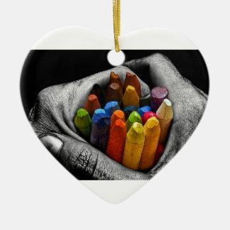 Innerhalb meiner Hände kann ich schaffen, Keramik Herz-Ornament
