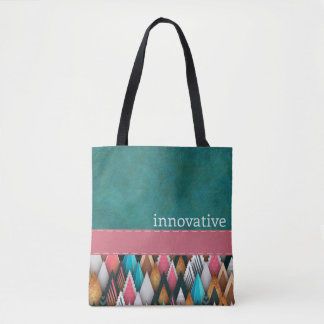 INNOVATIVE - aquamarin, Lachs, Rosa - Handtasche