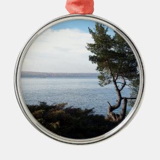 Insel-Ansicht, St- Josephinsel, Ontario Silbernes Ornament