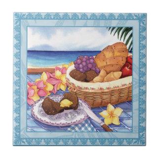 Insel-Café - Frühstück Lanai Kleine Quadratische Fliese