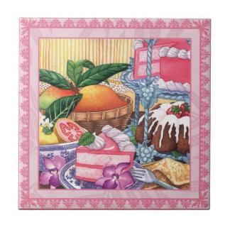 Insel-Café - Guave-Chiffon- Nachtisch Kleine Quadratische Fliese