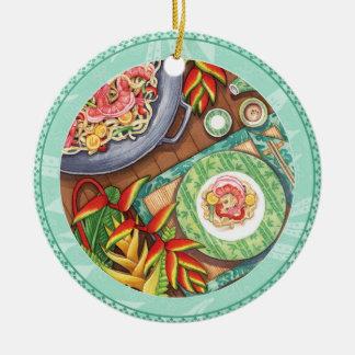 Insel-Café - Heliconia Wok Keramik Ornament