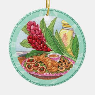 Insel-Café - Party Pupus Keramik Ornament