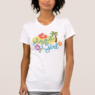 Insel-Mädchen - amerikanische Geldstrafe Jersey T-Shirt