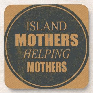 Insel-Mütter, die Mutter-Untersetzer helfen Getränkeuntersetzer