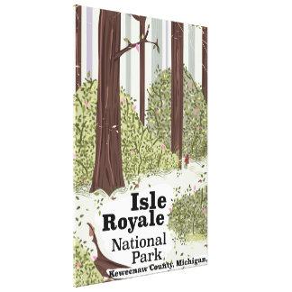 Insel Royale Vintages Reiseplakat Nationalparks Leinwanddruck