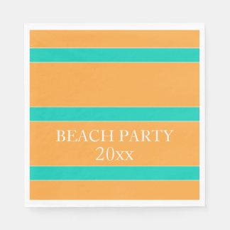 Insel-Seestreifen auf tropischem orange Papierserviette