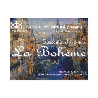 Insel-Stadt-Opern-La Boheme Titel-Projektion Canva Leinwanddruck